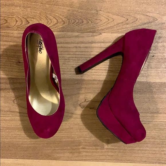 Shoes | Mossimo Deep Pink Heel | Poshmark